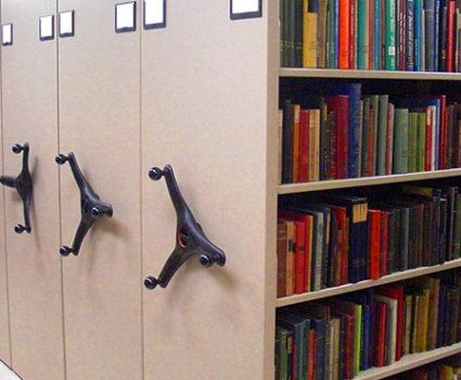 high-density mobile shelving storage